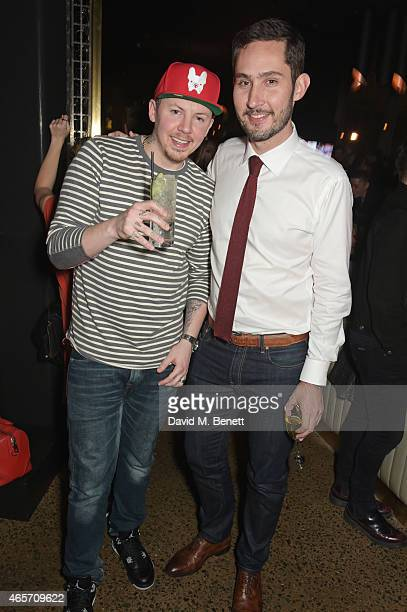 Professor Green and Kevin Systrom attend a party hosted by Instagram's Kevin Systrom and Jamie Oliver This is their second annual private party...