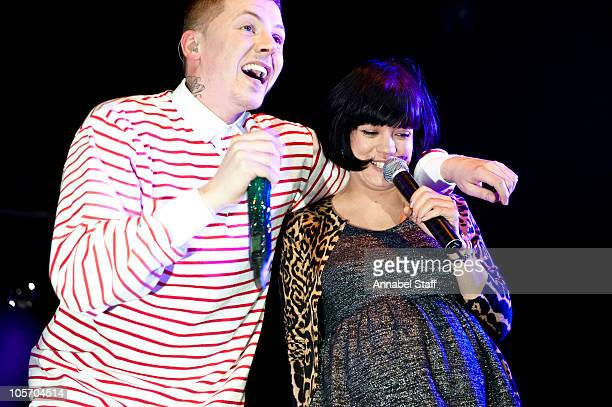 Professor Green and Lily Allen perform on stage at KOKO on October 19 2010 in London England