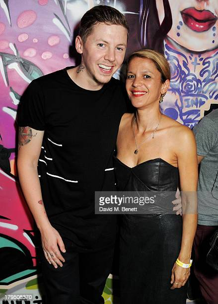 Professor Green and Lisa Moorish attend the launch of new Leicester Square nightclub 'INK' from Stephen Manderson aka Professor Green and Gerry Jon...
