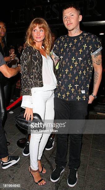 Professor Green and Millie Mackintosh arriving at INK night club on September 26 2013 in London England