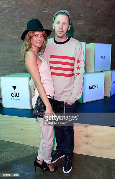 Professor Green and Millie Mackintosh at the official UK launch of blu eCigs the premier global electronic cigarette and the start of the brand's...
