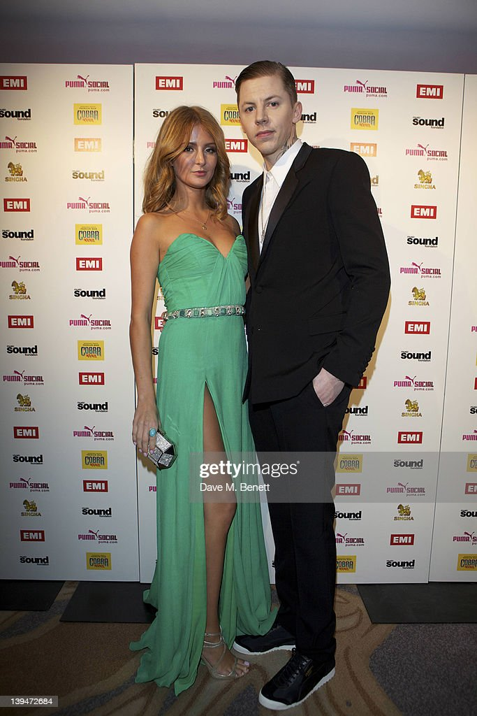 Professor Green and Millie Mackintosh attend The EMI Puma Cobra post BRIT awards party at the O2 on February 21, 2012 in London, England.