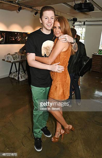 Professor Green and Millie Mackintosh attend the launch of Made A Book of Style Food and Fitness by Millie Mackintosh at Carousel London on September...