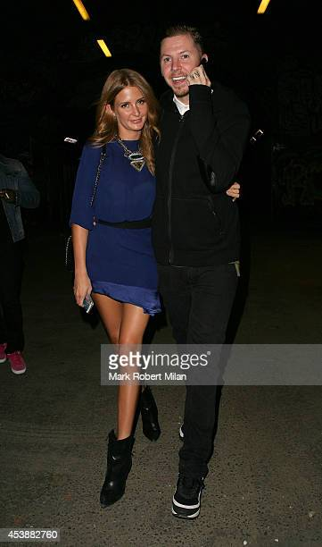 Professor Green and Millie Mackintosh attending the Lynx Peace Make Love Not War at The Vaults on August 20 2014 in London England