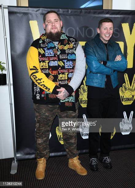 Professor Green and Rag'n'bone Man attend the UK's first prize celebrating social change in entertainment and media at BAFTA on February 08 2019 in...