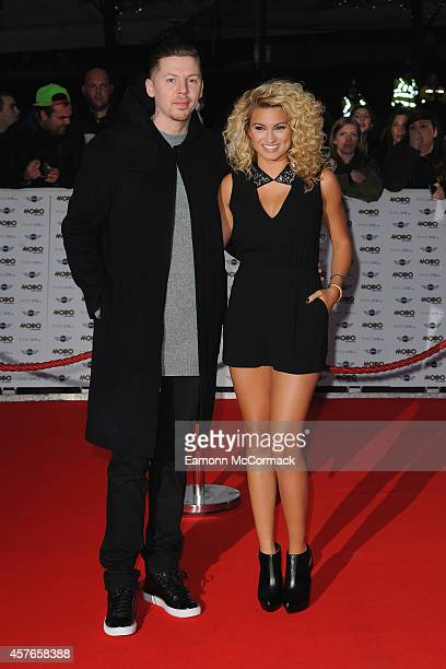 Professor Green and Tori Kelly attend the MOBO Awards at SSE Arena on October 22 2014 in London England
