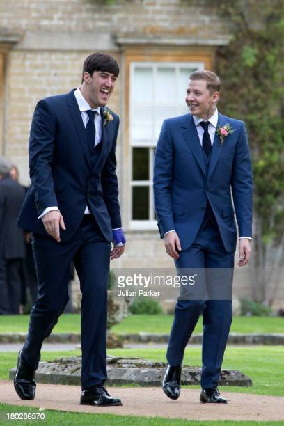 Professor Green arrives for his wedding to Millie Mackintosh at Babington House on September 10 2013 in Frome England