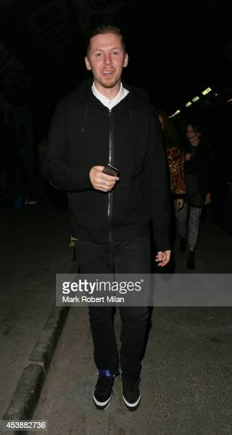 Professor Green attending the Lynx Peace Make Love Not War at The Vaults on August 20 2014 in London England