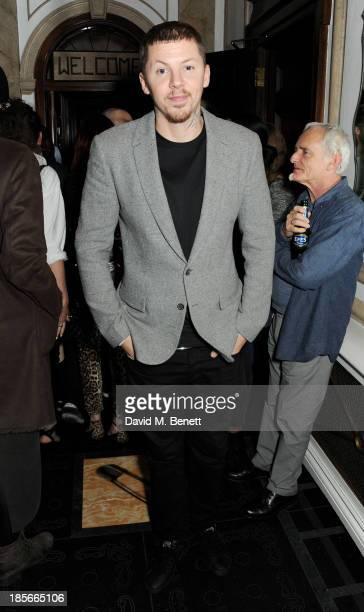 Professor Green attends a party to celebrate 'Virgin Records 40 Years Of Disruptions' at No 5 Cavendish Square on October 23 2013 in London England