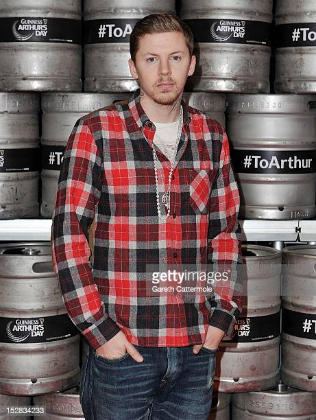 Professor Green attends a photocall at The Morrison Hotel as final preparations for this evening's Arthur's Day celebrations get under way on...
