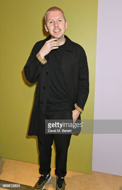 Professor Green attends the Burberry x Adwoa cocktail party at Thomas's on June 8 2018 in London Englan