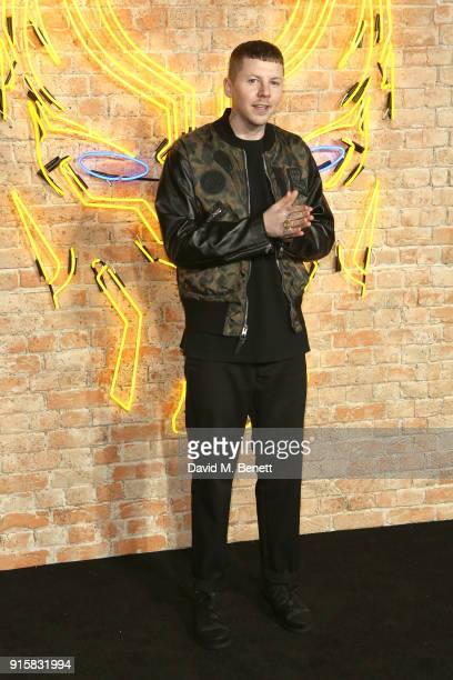 Professor Green attends the European Premiere of 'Black Panther' at the Eventim Apollo on February 8 2018 in London England