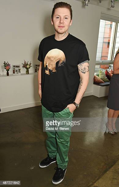 Professor Green attends the launch of 'Made A Book of Style Food and Fitness' by Millie Mackintosh at Carousel London on September 7 2015 in London...