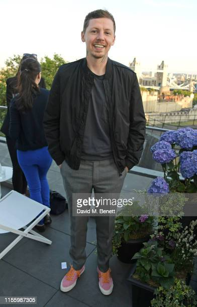 Professor Green attends the launch of 'The Residence', the new rooftop bar at The Four Seasons Hotel London At Ten Trinity Square, on July 16, 2019...