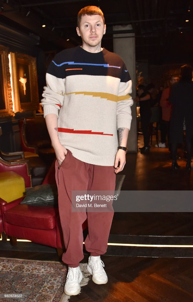 Professor Green attends the launch of Wonderland magazine's Spring 2018 issue with Ellen Von Unwerth at MNKY HSE on March 15, 2018 in London, England.