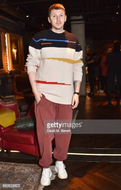 Professor Green attends the launch of Wonderland magazine's Spring 2018 issue with Ellen Von Unwerth at MNKY HSE on March 15 2018 in London England