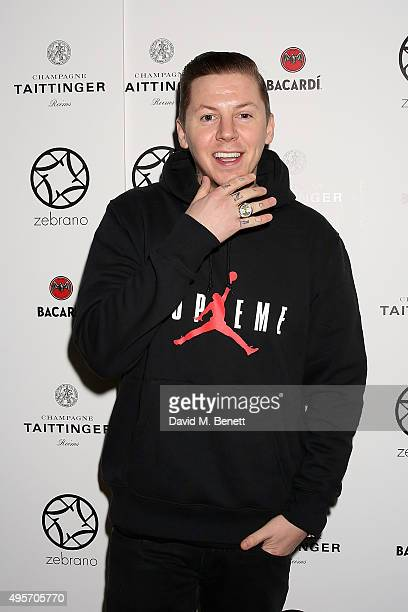 Professor Green attends the launch of Zebrano Restaurant on November 4 2015 in London England