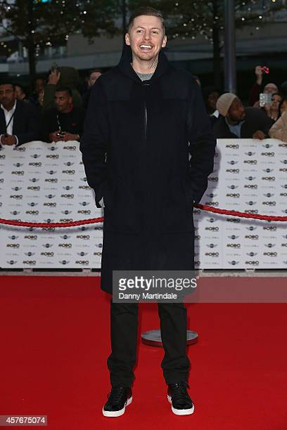 Professor Green attends the MOBO Awards at SSE Arena on October 22 2014 in London England