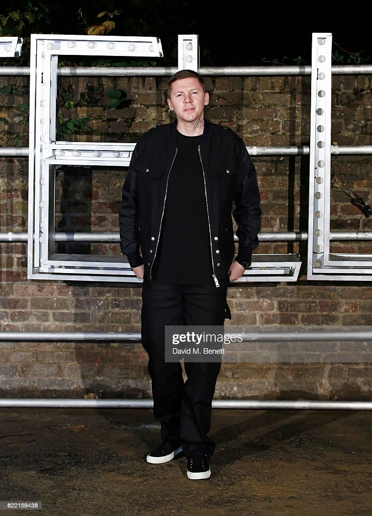 Professor Green attends the Stella McCartney Menswear launch and Women's Spring 2017 collection presentation at Abbey Road Studios on November 10, 2016 in London, England.