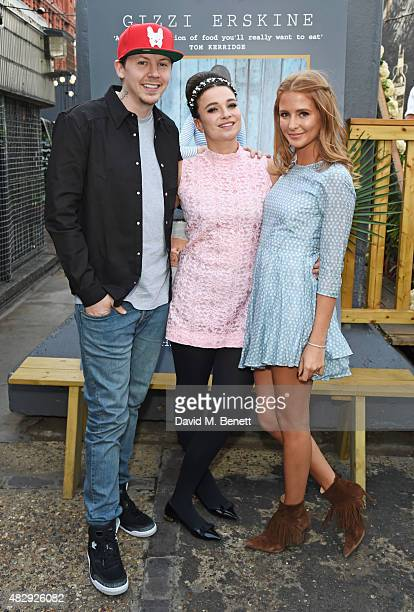 Professor Green Gizzi Erskine and Millie Mackintosh attend the book launch party for 'Gizzi's Healthy Appetite Food To Nourish The Body And Feed The...