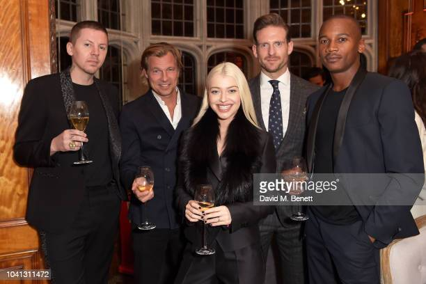 Professor Green Ludovic du Plessis Alice Chater Craig McGinlay and Eric Underwood attend a intimate dinner cohosted by LOUIS XIII Vanity Fair...
