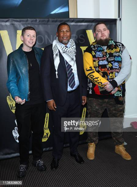 Professor Green Nkosi Mandela and Rag'n'bone Man attend the UK's first prize celebrating social change in entertainment and media at BAFTA on...