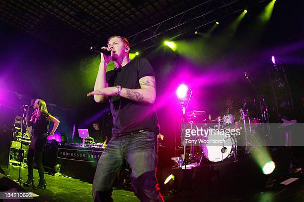 Professor Green performs at Liverpool University on November 27 2011 in Liverpool England