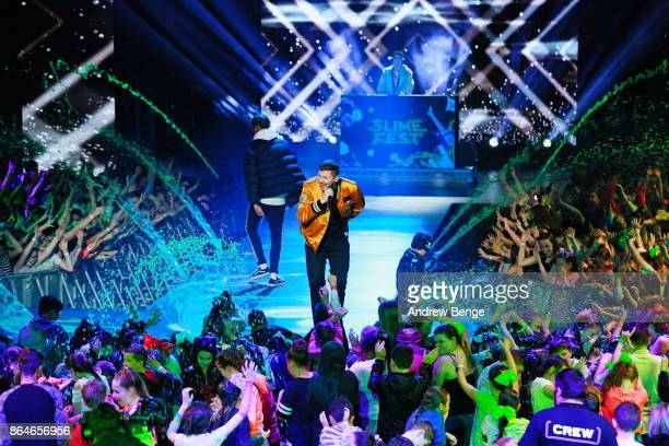 Professor Green performs at Nickelodeons SLIMEFEST on October 21 2017 in Blackpool England Highlights from the slimefilled event will air on...