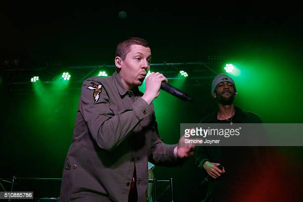Professor Green performs live on stage during War Child's Passport to BRITs Week at Oslo on February 17 2016 in London England