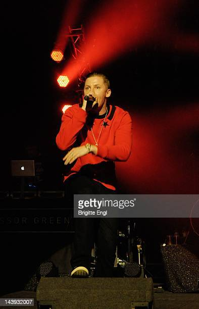 Professor Green performs on stage at Brixton Academy on May 5 2012 in London United Kingdom