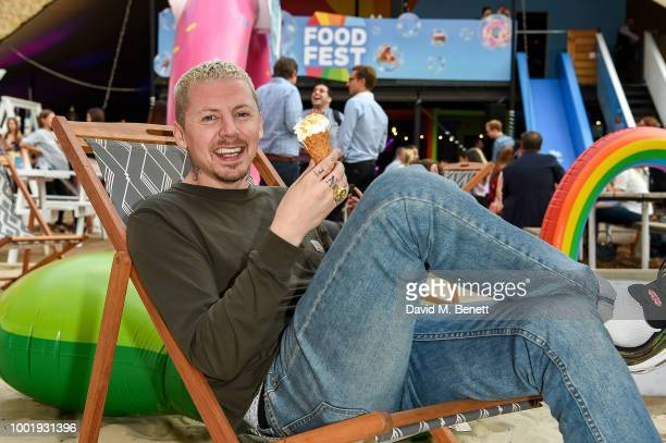 Professor Green pictured at the VIP launch of Just Eat Food Fest Fantasy Fusions at Last Days of Shoreditch on July 19 2018 in London England The...
