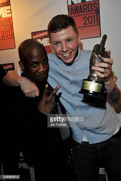 Professor Green Poses With His Best Dancefloor Filler Award During The Nme Awards 2017 At Brixton