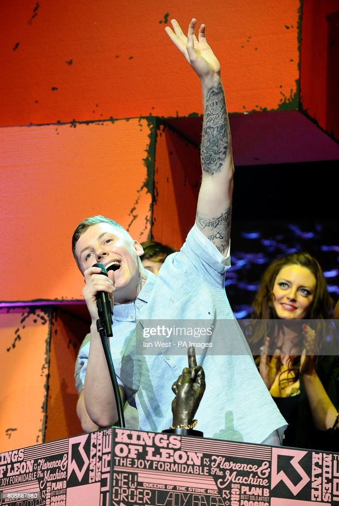 Professor Green With The Best Dancefloor Filler Award On Stage During 2017 Nme Awards At