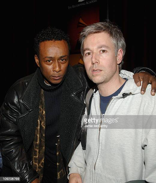 """Professor Griff of Public Enemy and Adam Yauch of Beastie Boys attend the Recording Academy Private Industry Screening of """"Public Enemy: Welcome to..."""