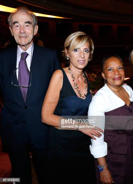 Professor Christian Cabrol President of Amnesty International France Genevieve Garrigos and French Justice Minister Christiane Taubira attend the...