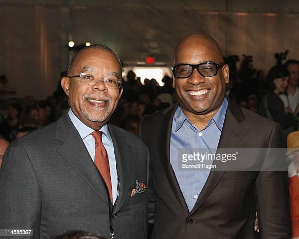 Professor Henry Louis Gates and artist Glenn Ligon attend the groundbreaking for the Whitney Museum's new building on Gansevoort Street on May 24,...