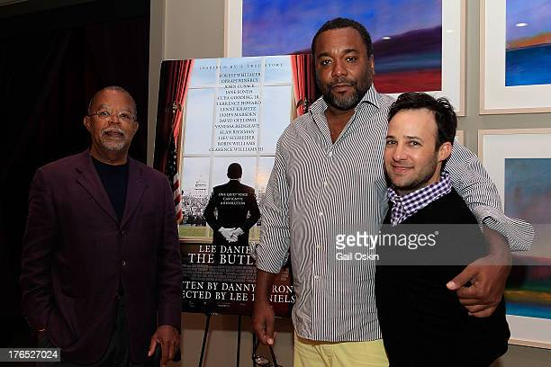 Professor Henry Louis Gates Jr director Lee Daniels and writer Danny Strong attend the Lee Daniels' The Butler Screening Hosted By Professor Henry...