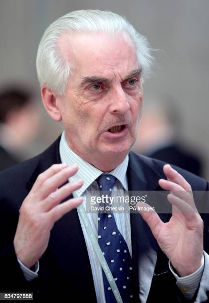 Professor Hugh Pennington at the Scottish Parliament in Edinburgh to take part in the debate on a call for a public inquiry into the outbreak of...