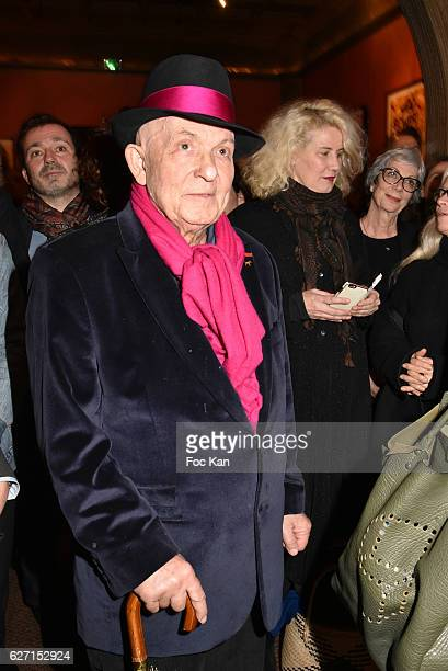 Professor Jacques Leibowitch and Christine Bergstrom attend Sculptor painter Aurele LostDog receives the medal of Chevalier Des arts Et Lettres from...