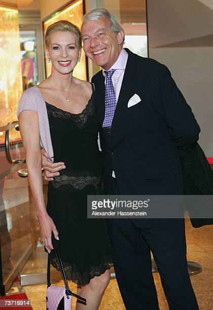 Professor Jo Groebel arrives with Barbara Weis for the Herbert Award 2006 Gala at the Elysee Hotel on March 26 2007 in Hamburg Germany