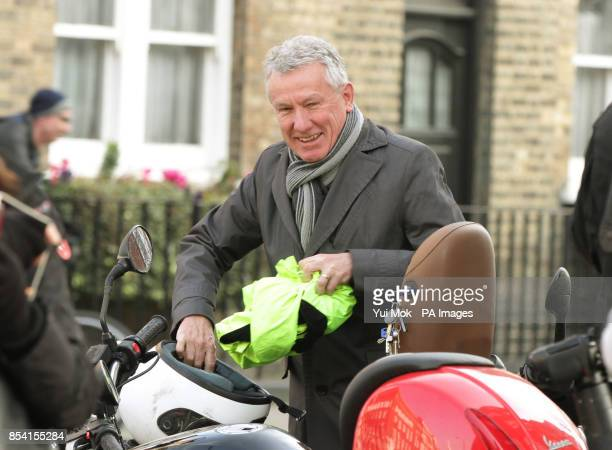 Professor John Cunningham Head of the Medical Household to Queen Elizabeth II leaves King Edward VII Hospital in London where the Queen is continuing...