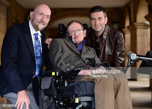 Professor Kip Thorne Professor Stephen Hawking and director Stephen Finnigan attend the gala screening of Hawking on the opening night of the...
