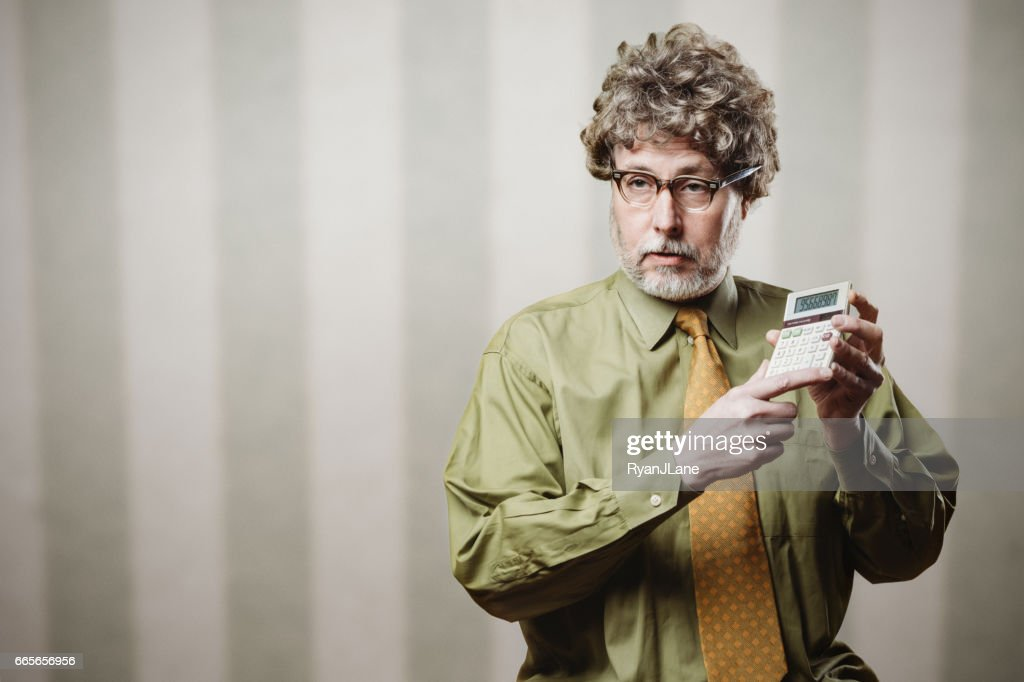 Professor Vorlesungen über Mathematik : Stock-Foto