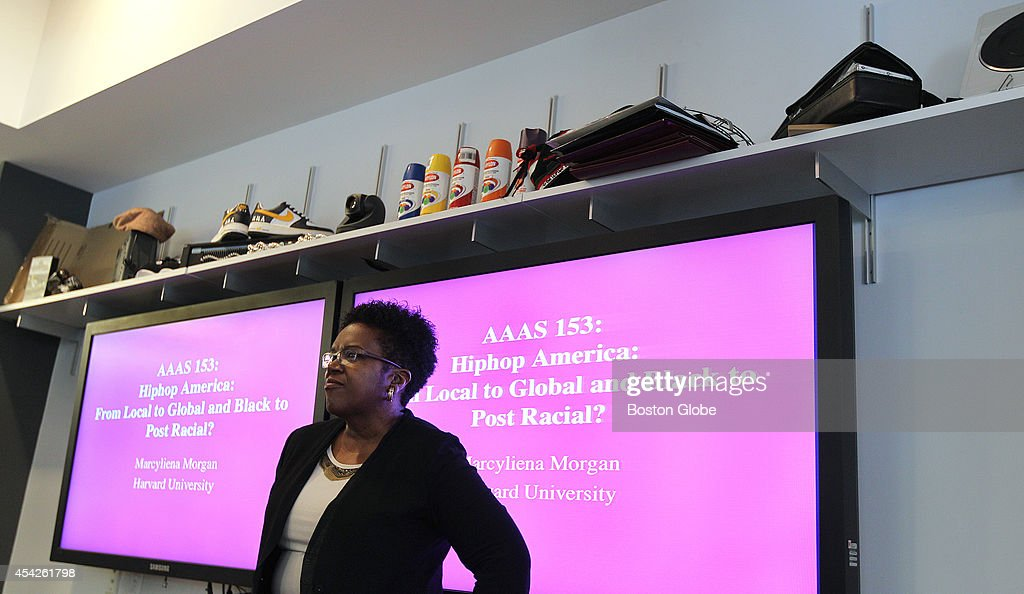 Professor Marcyliena Morgan teaches a class in the Hiphop Archive and Research Institute, at Harvard University, on Wednesday, September 11, 2013. The Nasir Jones Hiphop Fellowship is new at the archive.