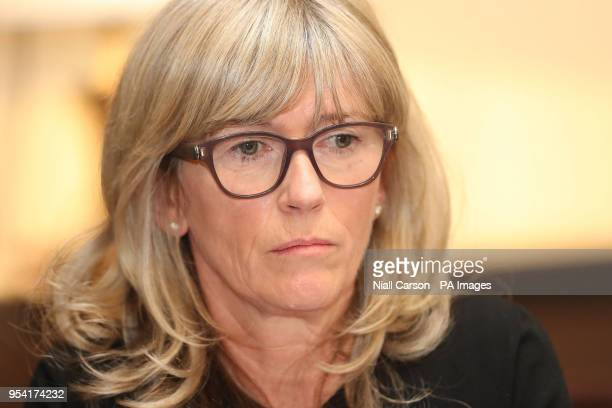 Professor Mary Horgan from the clinical expert panel of the Health Service Executive during a press conference to address public concern surrounding...