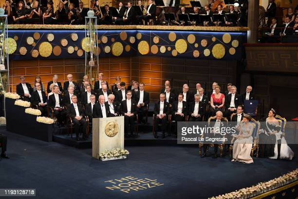Professor Mats Larsson introduces the Nobel Prize of Physics during the Nobel Prize Awards Ceremony at Concert Hall on December 10, 2019 in...