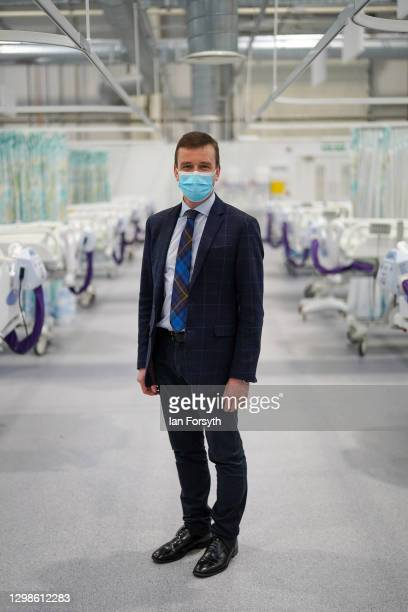 Professor Neil Watson, head of the Covid-19 vaccination programme poses for a picture at the NHS Nightingale North East hospital on January 26, 2021...