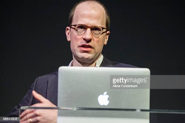 Professor Nick Bostrom as the keynote speaker during Moogfest 2014 on April 24, 2014 in Asheville, North Carolina.