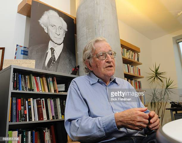 Professor Noam Chomsky of the Massachusetts Institute of Technology in his office that Stata Center at MIT in Cambridge