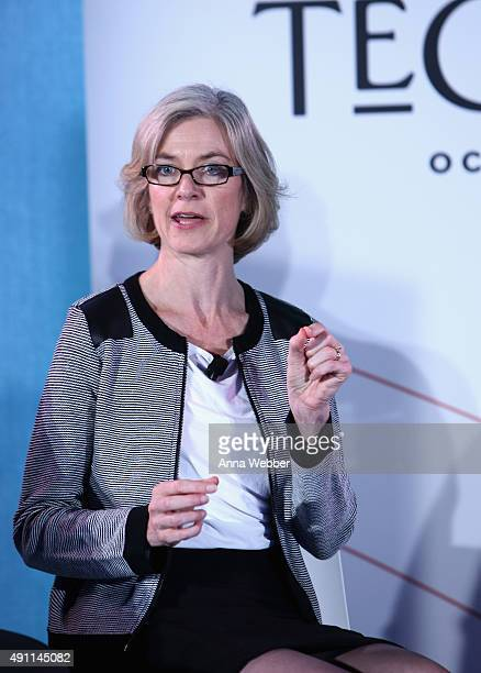 Professor of Chemistry and of Molecular and Cell Biology at the University of California Berkeley Jennifer Doudna speaks on stage during The New...